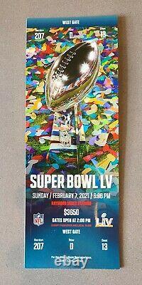 2021 Super Bowl LV Ticket Tampa Bay Buccaneers Kansas City Chiefs Blue 55 Brady