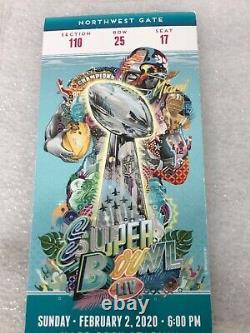 2/2/2020 Super Bowl 54 LIV NFL Football Full Ticket Stub 49ers Chiefs