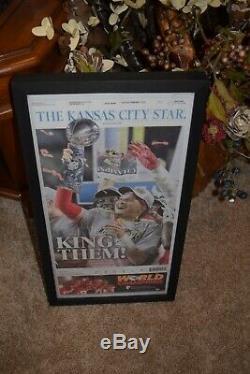 2 Set Kansas City Chiefs Framed Complete Journaux Super Bowl Champions LIV