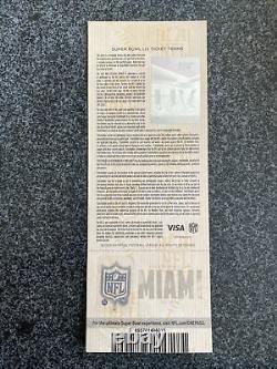 3-super Bowl LIV 2020 Miami Ticket Stubs Chefs 49ers Mahommes Différentes Couleurs