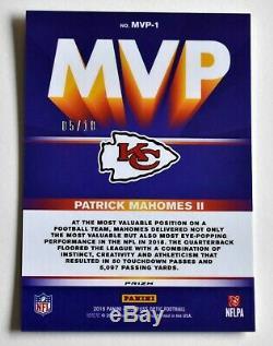 5/10 Patrick Mahomes 2019 Mvp Optique D'or Prizm Super Bowl LIV Chiefs Ssp