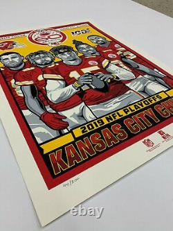 Affiche Des Chefs De La Ville De Kansas Pour Les Éliminatoires De La 60e Saison Mettant En Vedette Patrick Mahomes