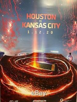 Affiche Entière Arrowhead Série De Kansas City En Chef Superbowl Champions! Rare