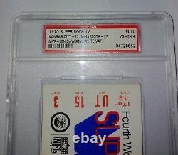 Authentic1970super Originale Bowliv4chiefsvikingsfull Ticketpsa Slabhtf