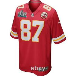 Authentique Nike Travis Kelce Kansas City Chiefs Mens Super Bowl LIV 54 Jersey