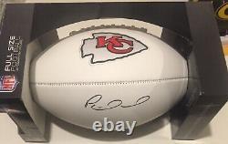 Autographié Patrick Mahomes Kansas City Chiefs Team Super Bowl Football Withcoa