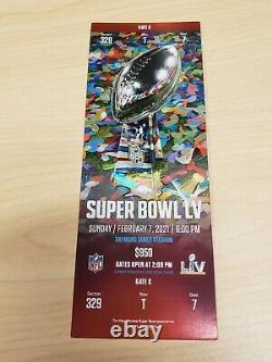 Billet Stub Super Bowl LV 55 Kansas City Chiefs Tampa Bay Buccaneers 2/7/2021