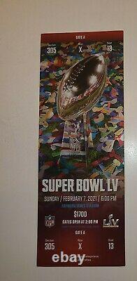 Billet Stub Super Bowl LV 55 Kansas City Chiefs V Tampa Bay Buccaneers 2/7/2021