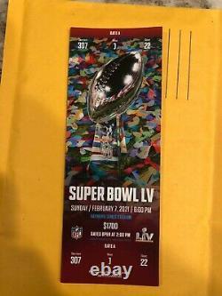 Billet Stub Super Bowl LV 55 Kansas City Chiefs Vs Tampa Bay Buccaneers 2/7/2021