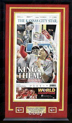 Chiefs Patrick Mahomes Super Bowl Champions Framed Kansas City Star Newspaper