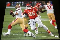 Chris Jones A Signé Kansas City Chiefs Super Bowl LIV 16x20 Photo Jsa