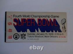 Clean 1970 4ème Championnat Du Monde Super Bowl Ticket Chefs Vikings