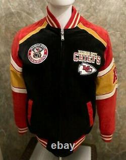 G-iii NFL Kansas City Chiefs Super Bowl LIV Champions Suede Jacket Sml