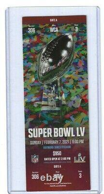 Genuine Authentic 2021 Super Bowl LV Ticket Tom Brady Bucs Kc Chiefs Mahomes