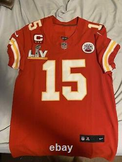 Hommes Nwot Patrick Mahomes Kansas City Chiefs Super Bowl 55 Jersey Taille 40/medium