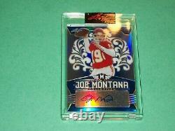 Joe Montana Auto 2020 Leaf Carte De Football En Métal /25 San Francisco 49ers Chefs
