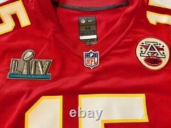 Kansas City Chiefs #15 Mahomes Authentic Nike Super Bowl LIV Medium Jersey, T.n.-o.
