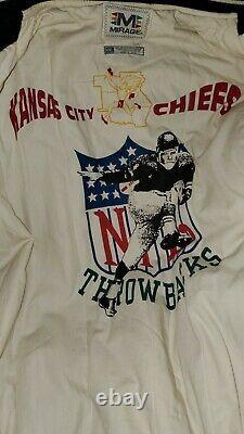 Kansas City Chiefs 1969 Super Bowl Wool Jacket Manches En Cuir Taille XXL