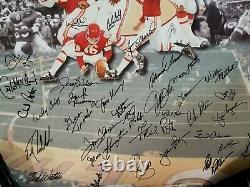 Kansas City Chiefs 1969 Superbowl Autographied Auto Team Signé Litho NFL Kc