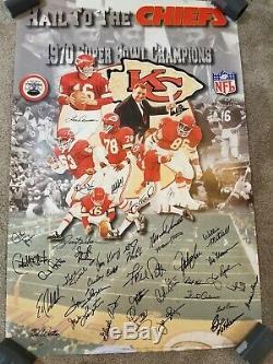 Kansas City Chiefs 1969 Superbowl Champs Autographié Équipe Auto Signé __gvirt_np_nn_nnps<__ Litho NFL