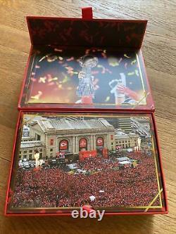 Kansas City Chiefs 2020 Season Ticket Member Gift Box Super Bowl Champions Flag