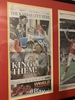 Kansas City Chiefs 2020 Super Bowl Kc Étoiles Journal Double Emmêlées, Encadrée