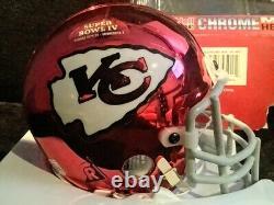 Kansas City Chiefs Chrome Mini Casque Rare Édition Limitée Super Bowl IV