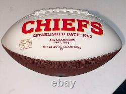 Kansas City Chiefs Football Superbowl Champs Signé Reid Kelce Hill