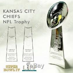 Kansas City Chiefs NFL Super Bowl Vince Lombardi Trophy Cup Replica 33cm 13'