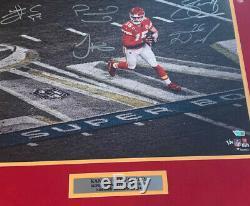 Kansas City Chiefs Signés Super Bowl 54 Encadré 16x20 Photo Le 4 54 Fanatics