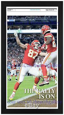 Kansas City Chiefs Super Bowl 54 Ensemble De 3 Framed Journaux Originaux Dans Blck