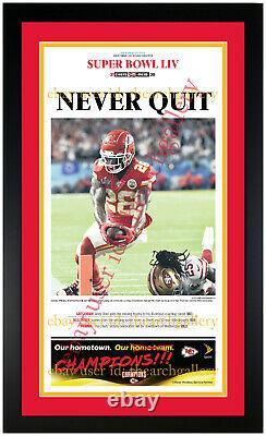 Kansas City Chiefs Super Bowl 54 Ensemble De 3 Matted & Framed Newspapers 2/3/2020