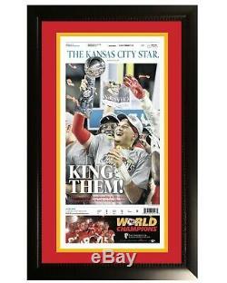 Kansas City Chiefs Super Bowl 54 Originale Étoile Encadrée Journal Patrick Mahomes