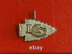 Kansas City Chiefs Super Bowl Champions 14k Pendentif Arrowhead Or Charm 1 3/8