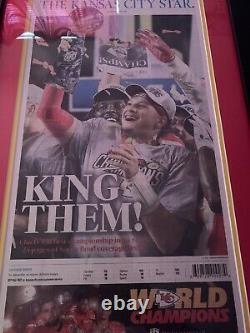 Kansas City Chiefs Super Bowl Champs! 2 Journal Original Encadré Avec D'autres Pages