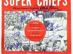 Kansas City Chiefs Super Bowl IV Signé Autographié Album Lp Len Dawson 4 Hofers