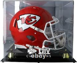 Kansas City Chiefs Super Bowl LIV Champs Golden Classic Casque Logo Display Case