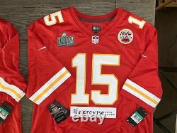 Kansas City Chiefs Super Bowl LIV Patch Nike Jersey Patrick Mahomes Mvp Rare T.n.-o.