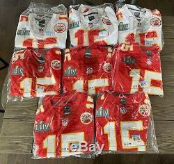 Kansas City Chiefs Super Bowl LIV Patch Nike Jersey Patrick Mahomes Mvp Rare Tn-o