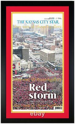 Kansas City Chiefs Super Bowl & Parade Edition Framed Original Newspaper Set