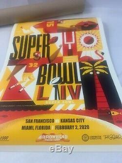 Kansas City Chiefs Super Bowl Poster Limitée À 1000! Série Arrowhead Mahomes