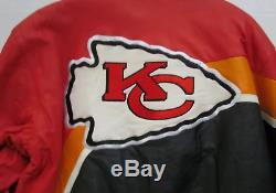 Kansas City Chiefs Superbowl LIV Champs Veste En Cuir Par Jeff Hamilton Taille XL