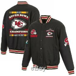 Kansas City Chiefs Varsity LIV 2-temps Du Super Bowl Champions Poly-twill Jacket