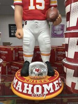 Kc Chiefs #15 Patrick Mahomes, NFL Mvp Bobblehead 3' Statue Super Bowl