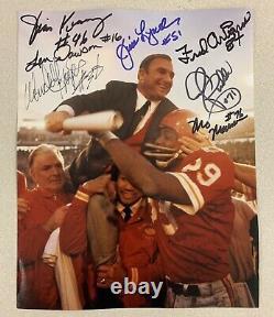 L'équipe Des Chefs De La Ville De Kansas A Signé Le Super Bowl IV Photo Len Dawson L@@k
