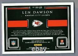 Len Dawson 2020 Impeccable Victory Super Bowl IV Autographe Or #d /10 Sp Chefs