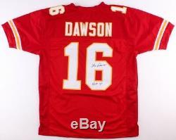 Len Dawson Signé Chefs Jersey Inscribed Hof 87 (tse Coa) Super Bowl Mvp (iv)