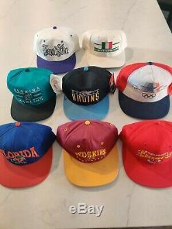 Lot 16 Chapeaux Vintage Sox, 49ers, Chefs, Jeux Olympiques, Collège, Superbowl