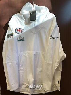 NFL Nike On-field Super Bowl LIV 54 Kansas City Chiefs Media Jacket/vest 2xl T.n.-o.
