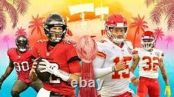 NFL Super Bowl 55 Billets Tampa 2/7/ 2 Billets Chiefs Buccaneers Kc Vs Tb